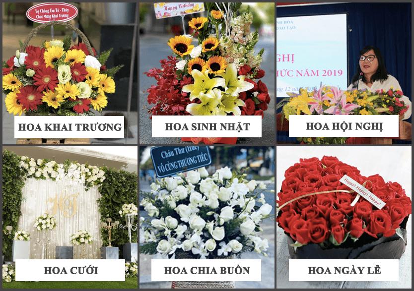 hoa tươi đa dạng
