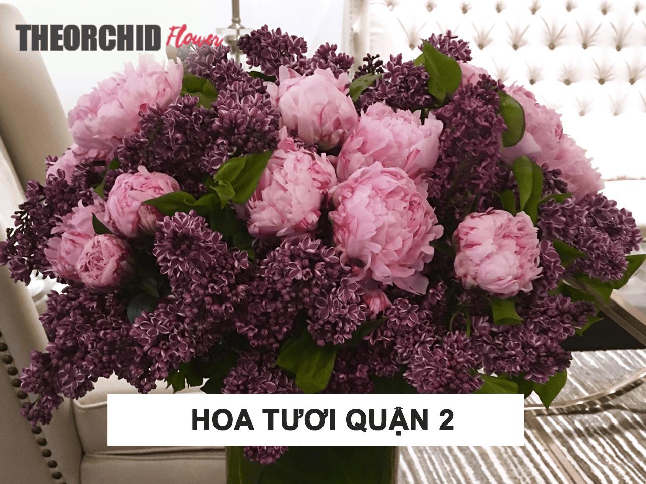 Cửa hàng hoa tươi tại quận 2 TheOrchid Flower HCM