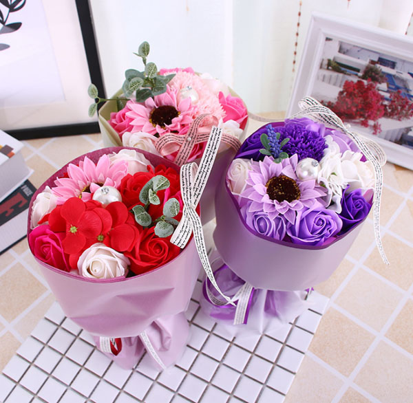 Hoa hồng bó sáp Momoyoyo đủ màu