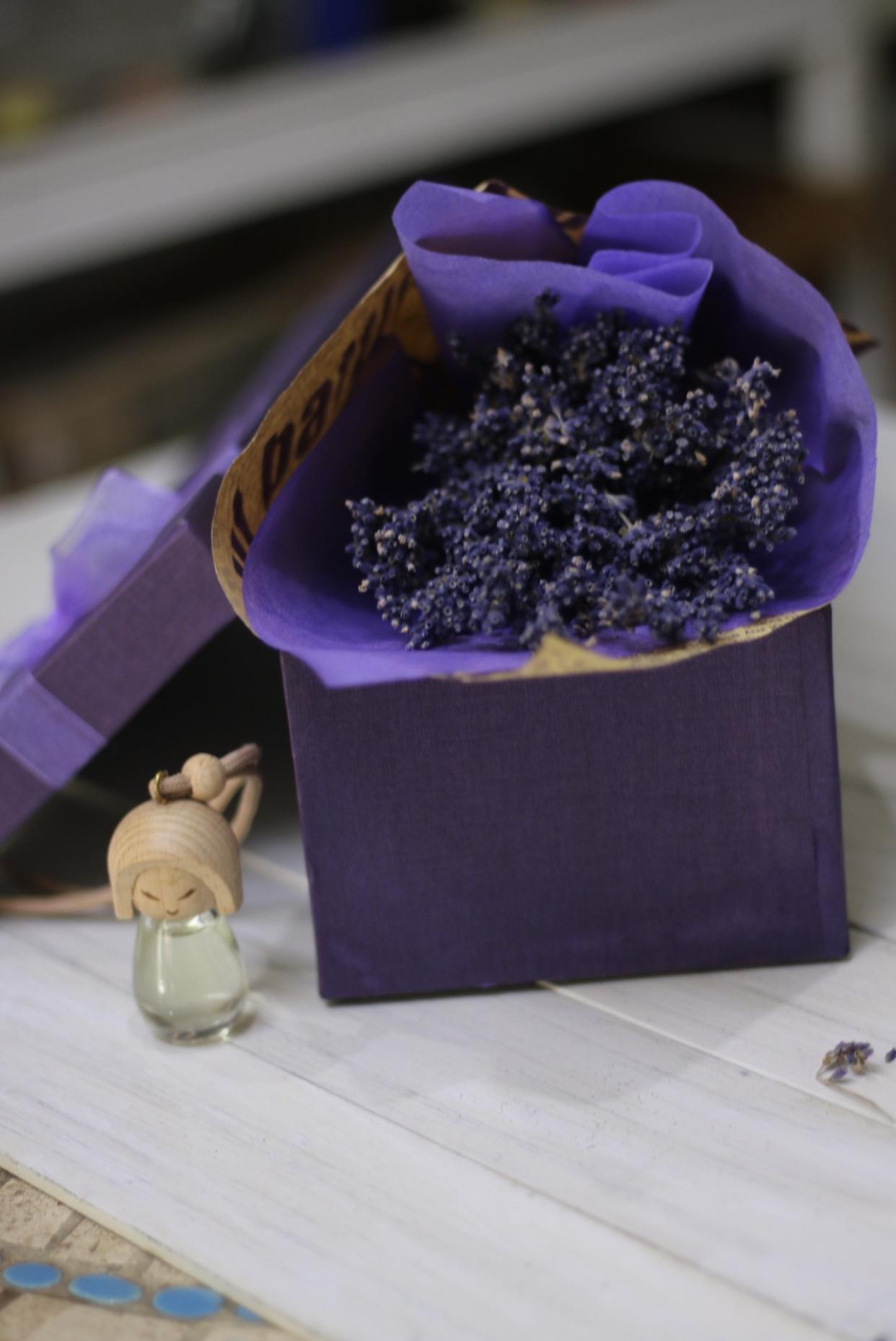 Hộp hoa lavender khô