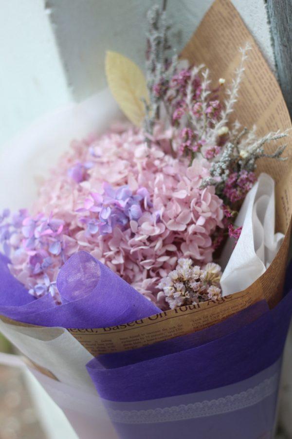 Bó hoa Cẩm Tú Cầu khô