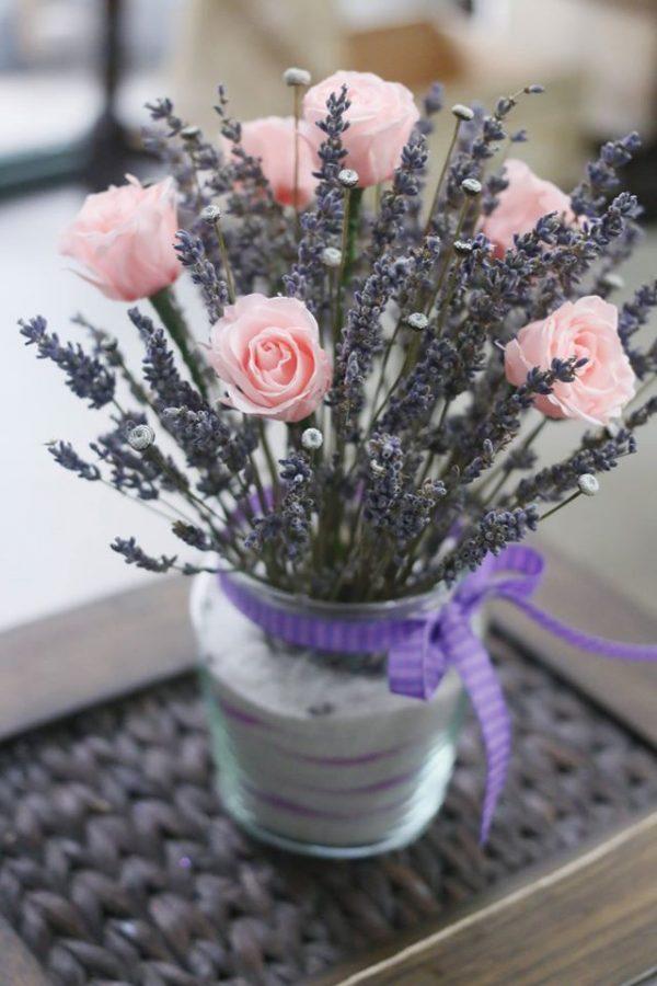 Lọ hoa lavender khô