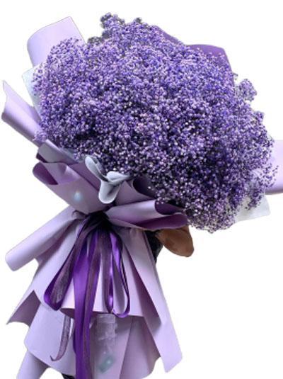 Bó hoa baby tím đẹp