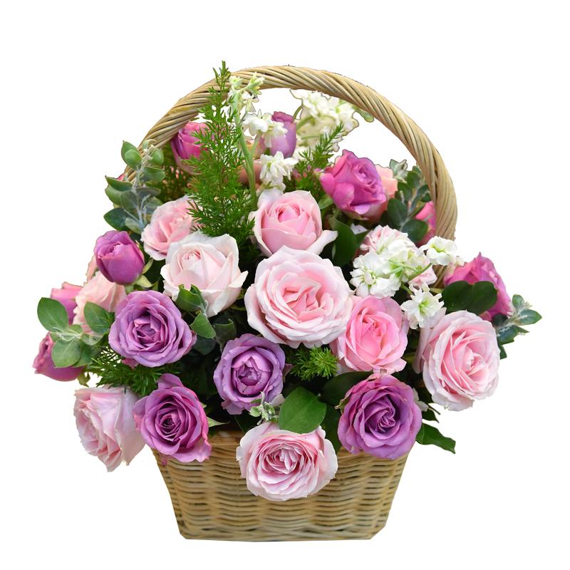 """Giỏ hoa hồng """"Cõi Mộng Mơ"""""""