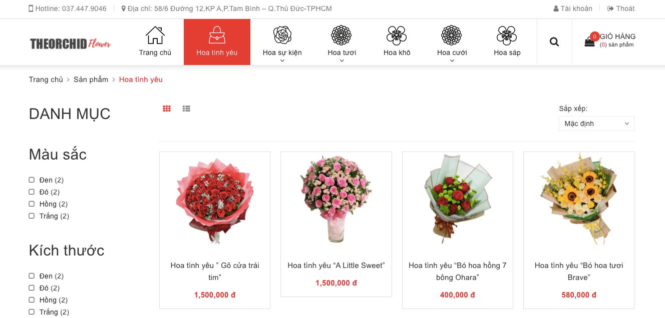 các mẫu hoa valentine