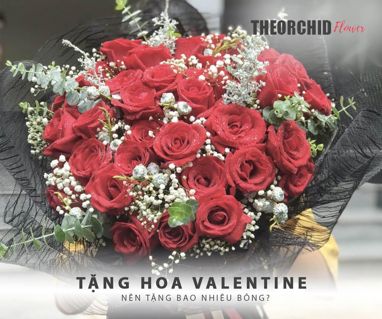 tặng hoa valentine